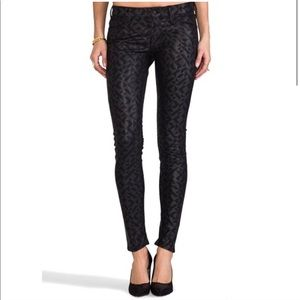 MOTHER Faux Leather Looker Skinny